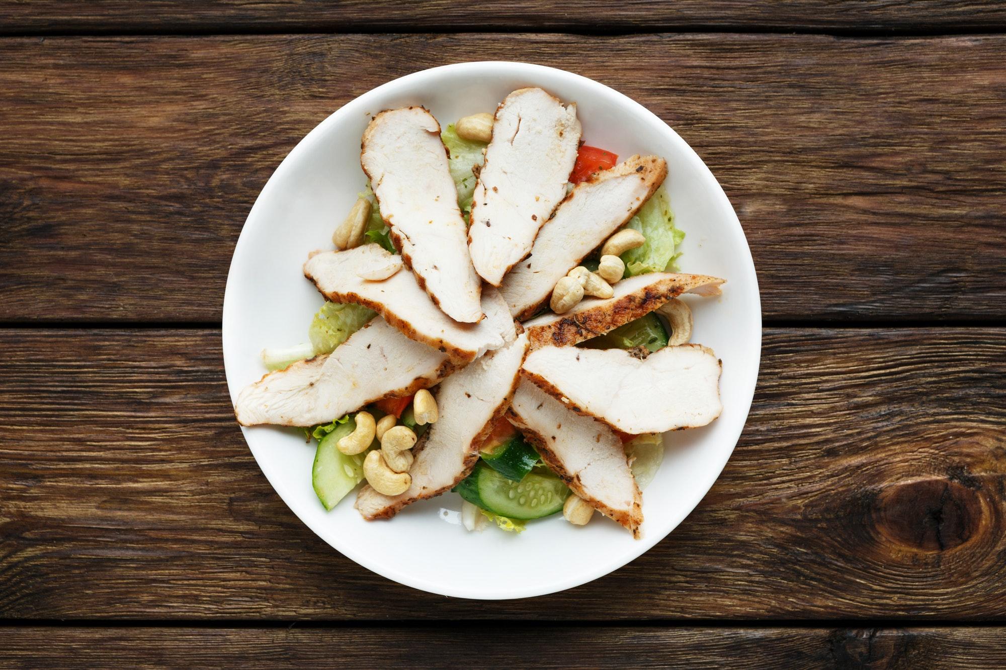Mediterranean cashew chicken salad